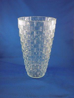 Clear Cyrstal small clear pattern Vase