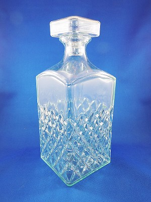 "Crystal Decanter - 9 1/2"" Tall"
