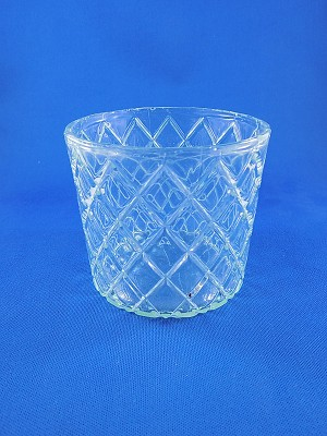 "Clear Crystal Glass - 3 1/8 "" Tall"