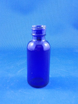 "Medicine Bottle - Blue - 3"" Tall"