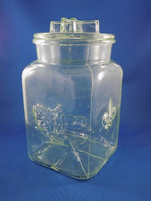 "Candy Jar with lid - 8 1/2"" Tall"