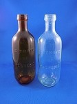 Old Style Bottle - Clear & Brown - 7 3/4